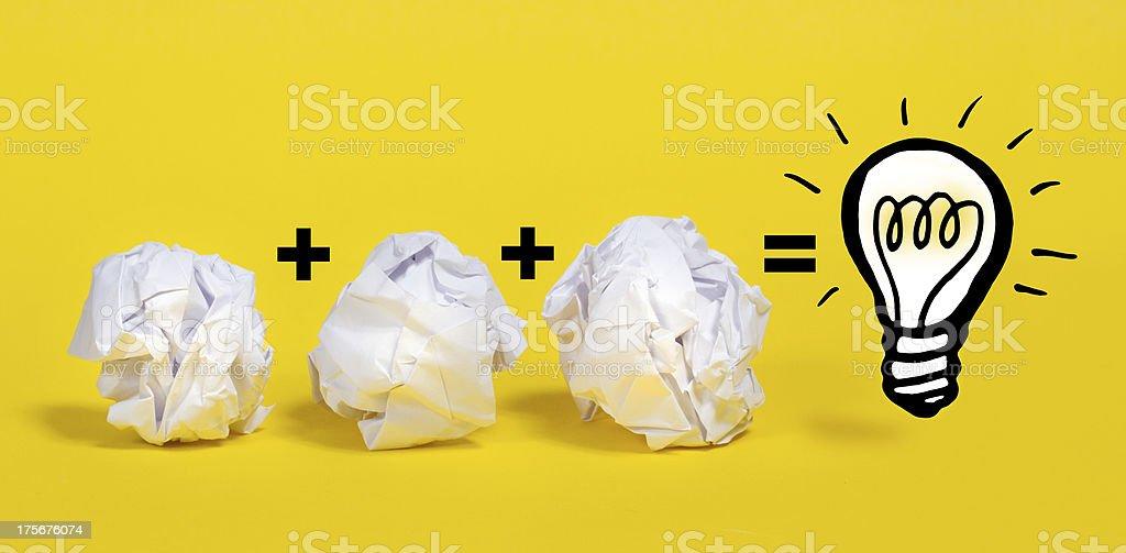 Paper Ball Math stock photo