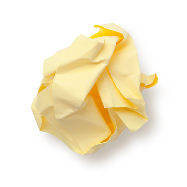 Paper Ball Sticky Note. stock photo