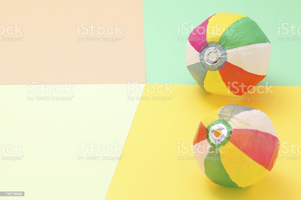 Paper balloon stock photo