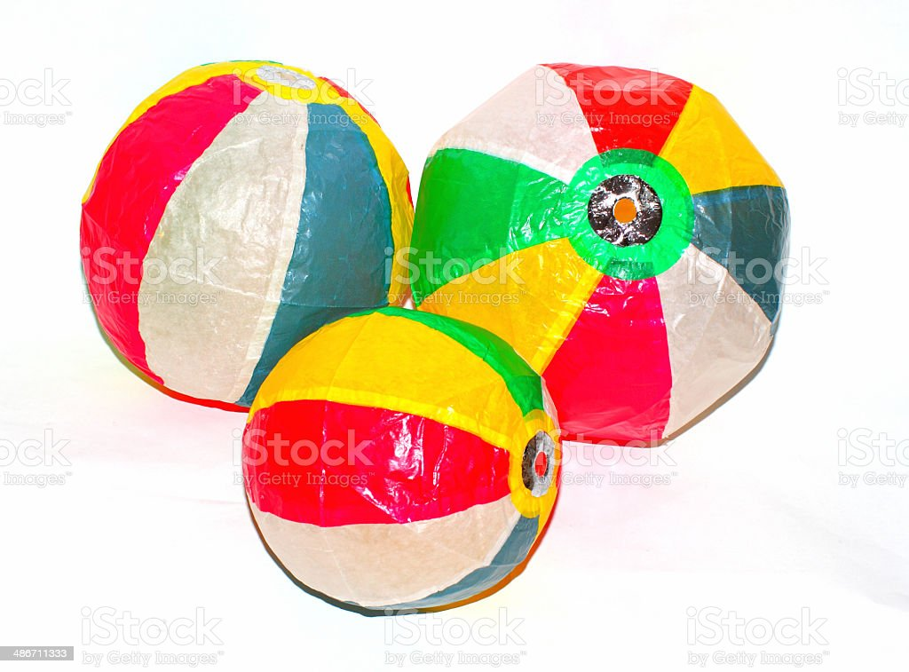 Paper balloons stock photo