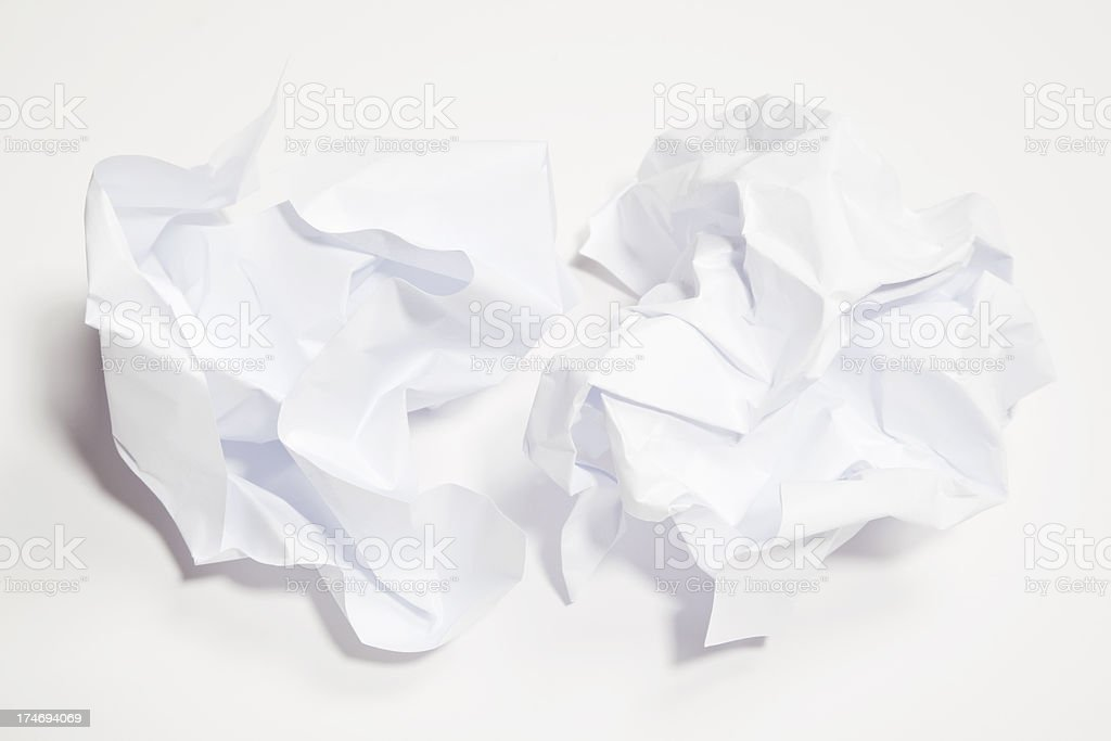 Paper balls XXXL royalty-free stock photo