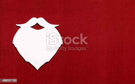 527392693 istock photo paper beard of Santa Claus 498337750