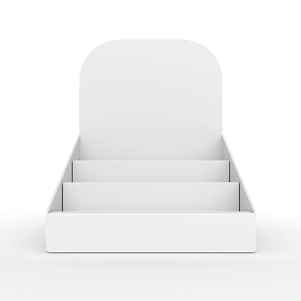 paper blank holder or display for products - retail display stock photos and pictures