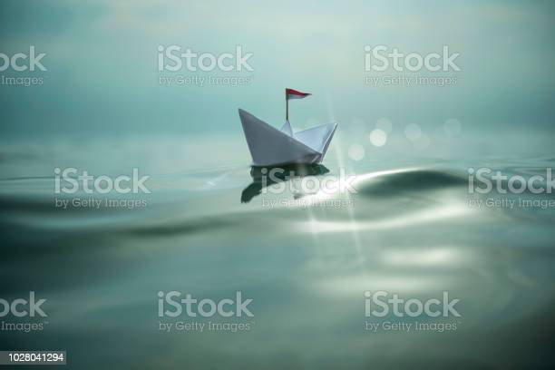 Photo of Paper boat on the sea