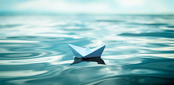 paper boat panorama - smooth stock photos and pictures