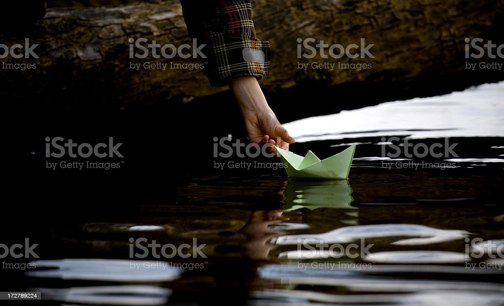 paper boat royalty-free stock photo