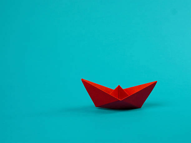 paper boat - flat design stock photos and pictures