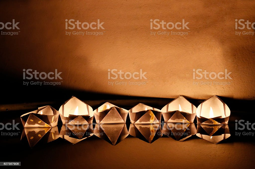 Paper boat stock photo