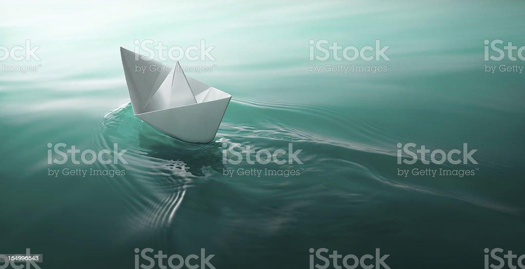 Vela de barco de papel - foto de acervo
