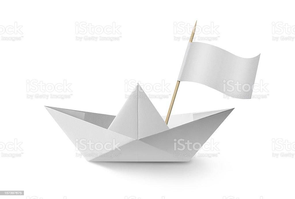 Barco de Papel com bandeira - foto de acervo
