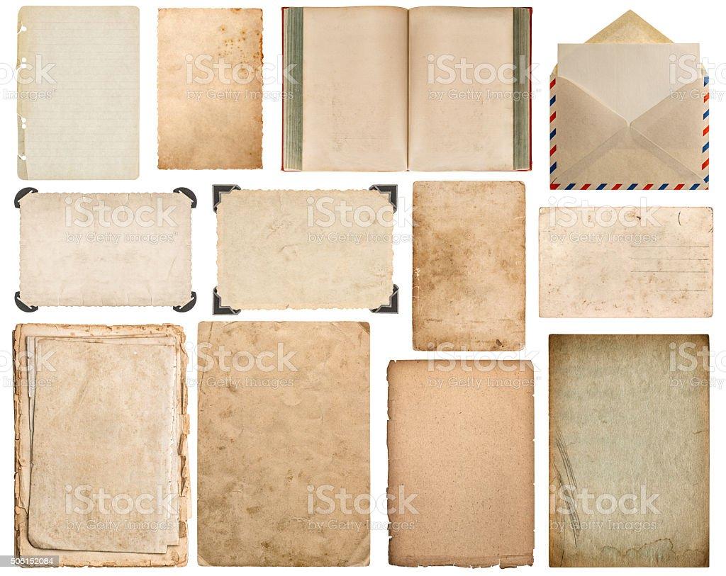Paper, book, envelope, cardboard, photo frame corner stock photo