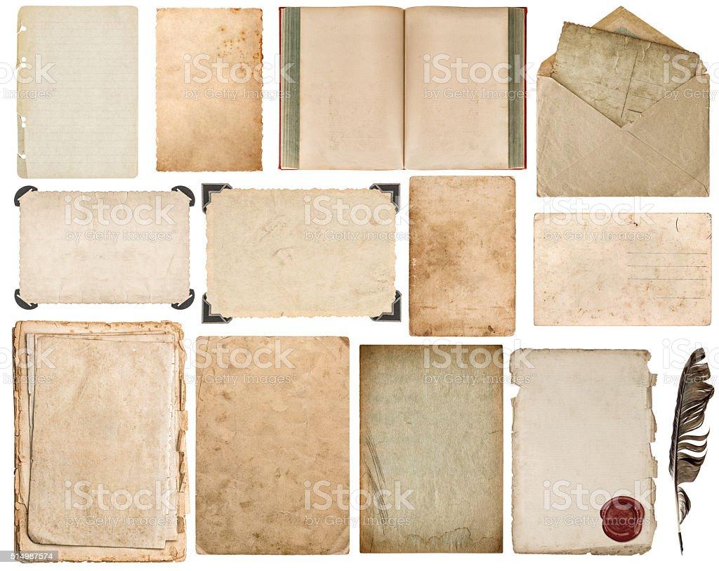 Jornal, livro, envelope, papelão, foto quadro canto - foto de acervo