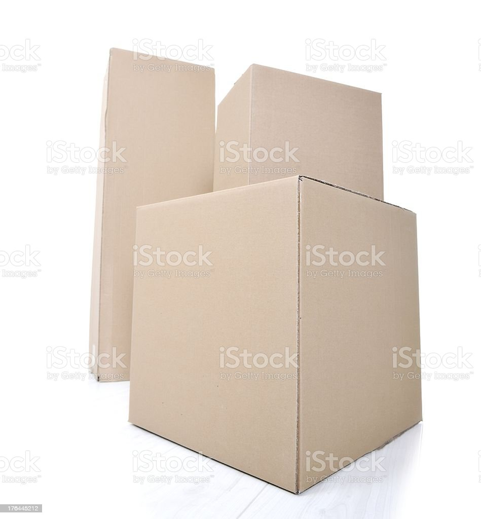 Paper box for packaging isolated royalty-free stock photo