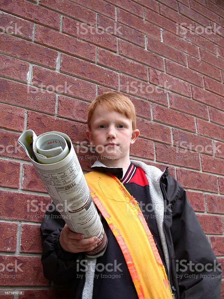 Paper Boy stock photo