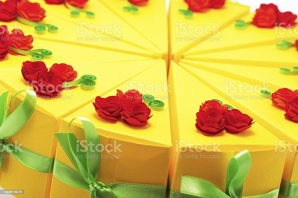 Paper cake close up stock photo