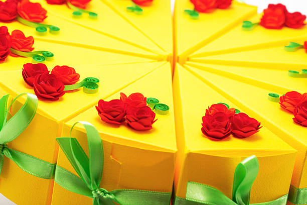 Paper cake close up stock photo