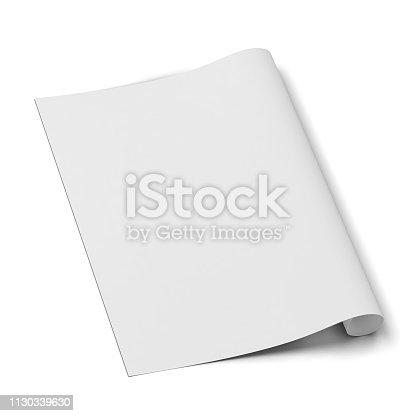 istock Paper canvas print sheet mockup 1130339630