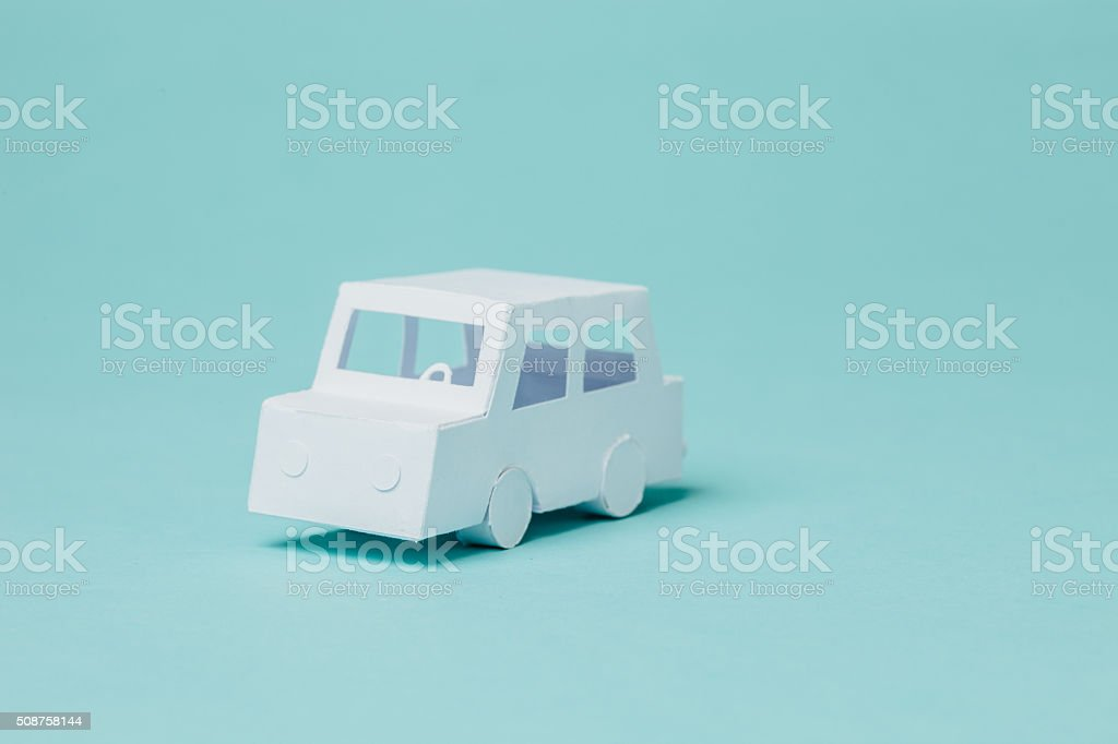 Paper car stock photo