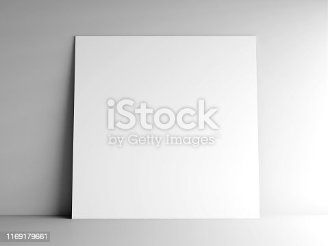 istock Paper card on a wall #3 1169179661