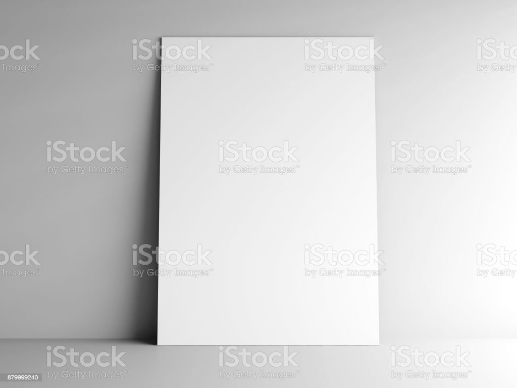 Paper card on a wall #2 stock photo
