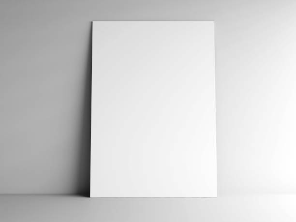 paper card on a wall #2 - poster stock pictures, royalty-free photos & images