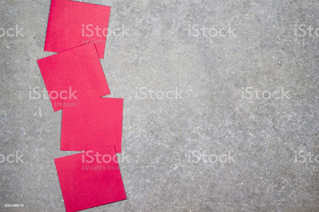 paper cards note on table stock photo