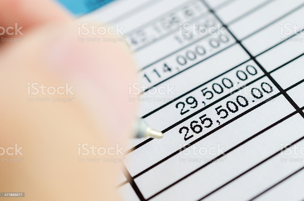 Paper chart royalty-free stock photo