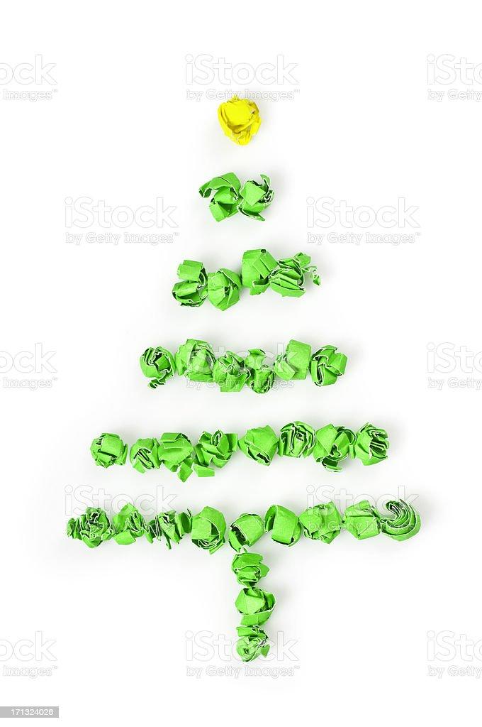Paper christmas tree royalty-free stock photo