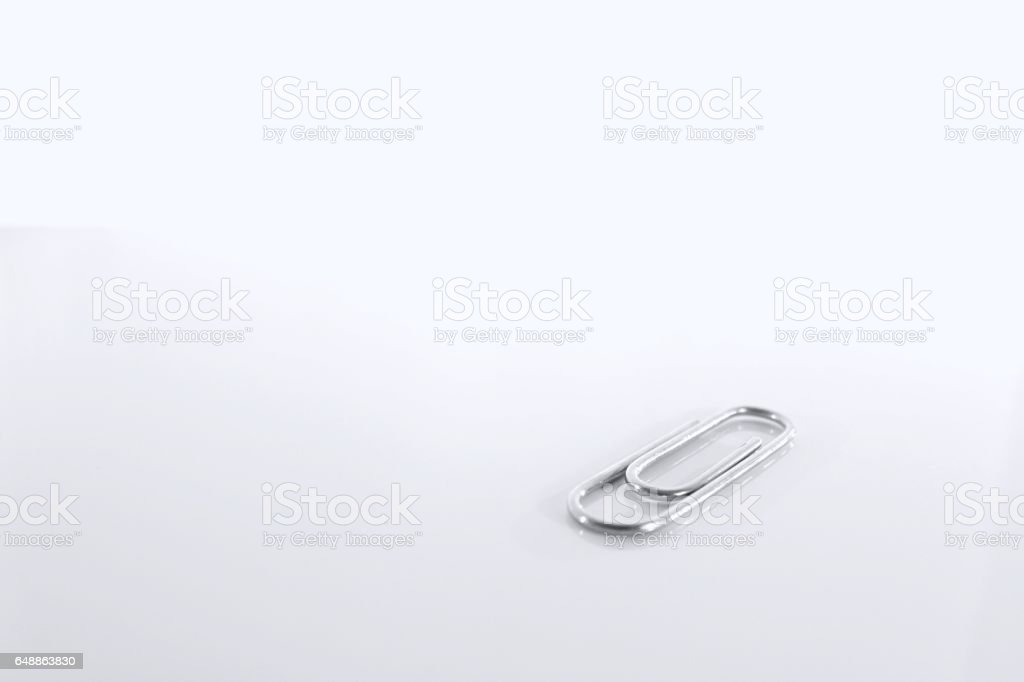 Paper clip isolated stock photo
