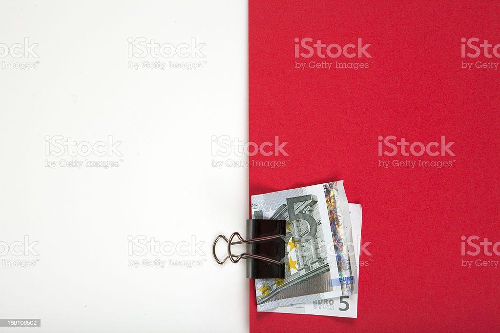 Paper Clip - looks similar to Polish flag royalty-free stock photo