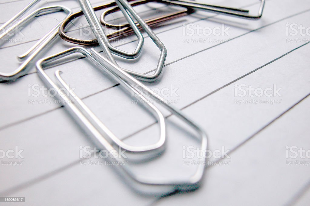 paper clip royalty-free stock photo