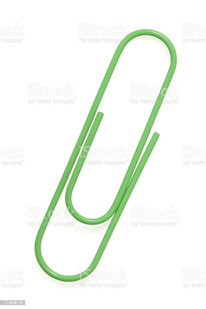 paper clip(with clipping path) royalty-free stock photo