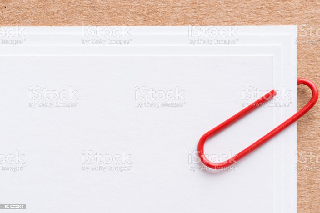 Paper clip with blank white business card stock photo more paper clip with blank white business card royalty free stock photo colourmoves
