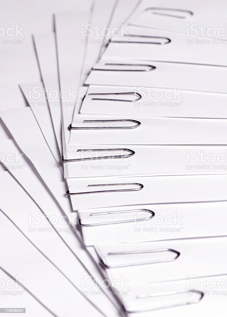 Paper clipped 2 royalty-free stock photo