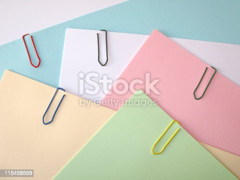 istock Paper clips 115458559
