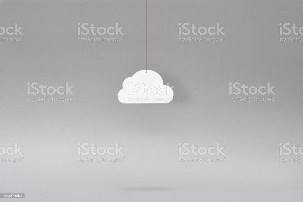 Paper Cloud – icloud – Gray stock photo
