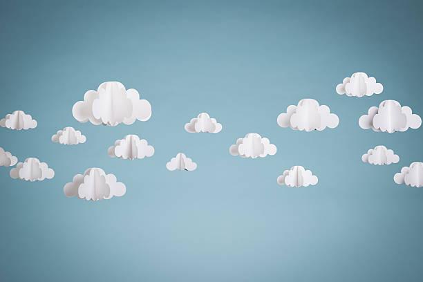 nuvole di carta - fumetto creazione artistica foto e immagini stock