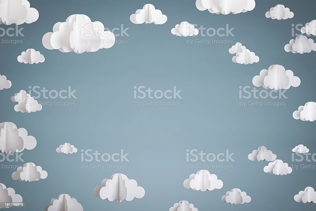 Paper Clouds stock photo