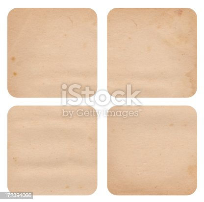 Image of four blank coasters against a white background. Great design element