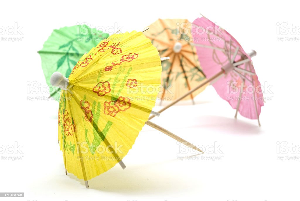 Paper Cocktail Umbrellas royalty-free stock photo