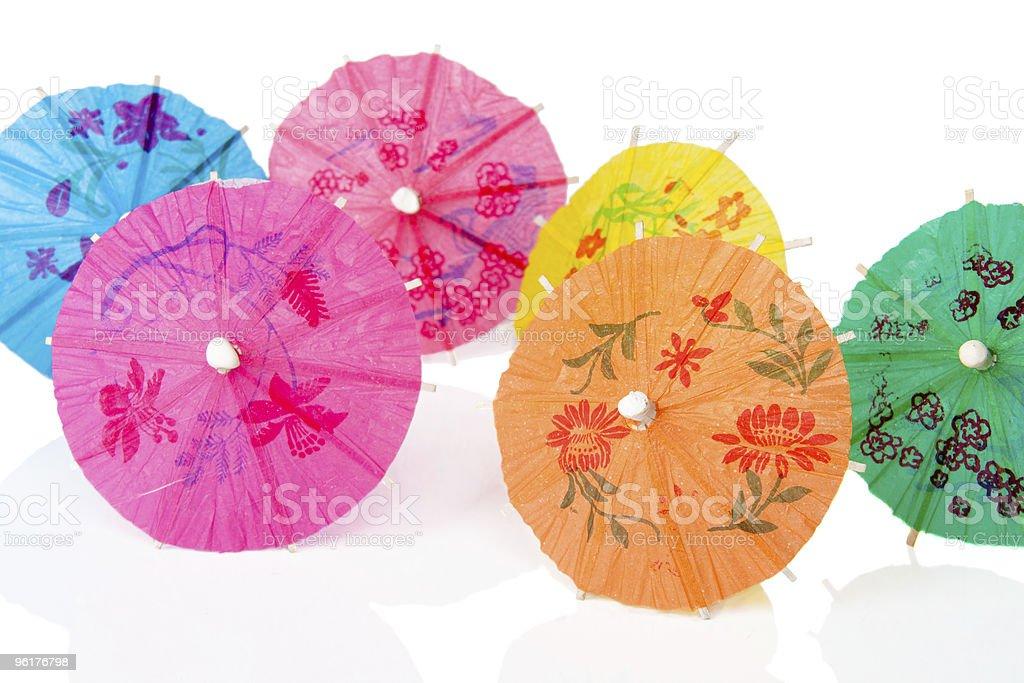Paper cocktails parasols stock photo