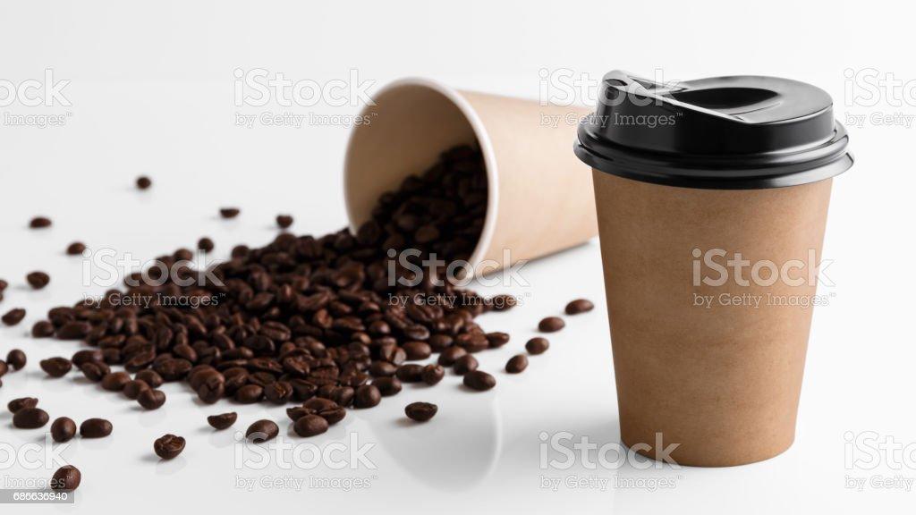 Paper coffee cup Lizenzfreies stock-foto