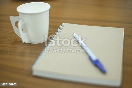 621843818istockphoto paper coffee cup with note 487166952
