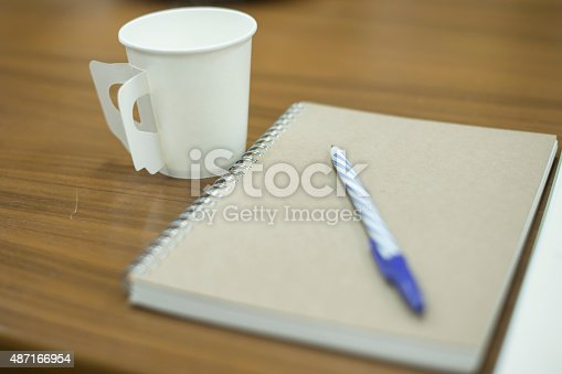 621843818istockphoto paper coffee cup with note 487166954