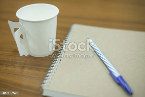 621843818istockphoto paper coffee cup with note 487167572