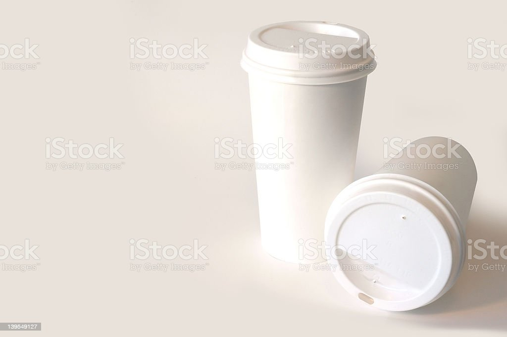 Paper Coffee Cups royalty-free stock photo