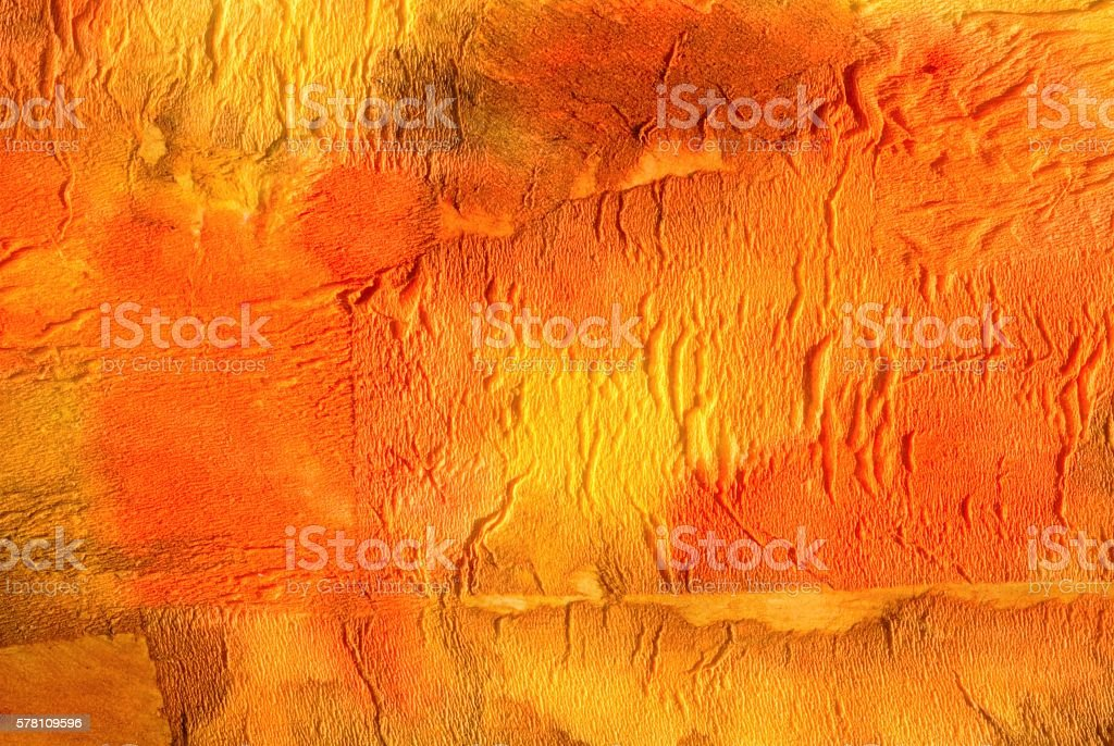 Paper collage abstract background in orange and yellow stock photo