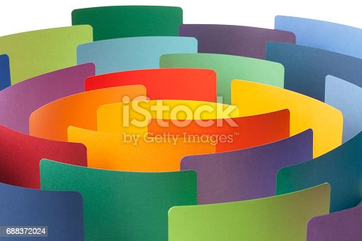 664901482 istock photo Paper color samples arranged in circle. Conceptual photography. 688372024