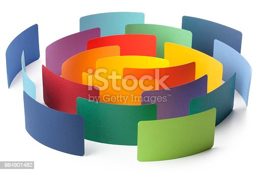 istock Paper color samples arranged in circle 664901482