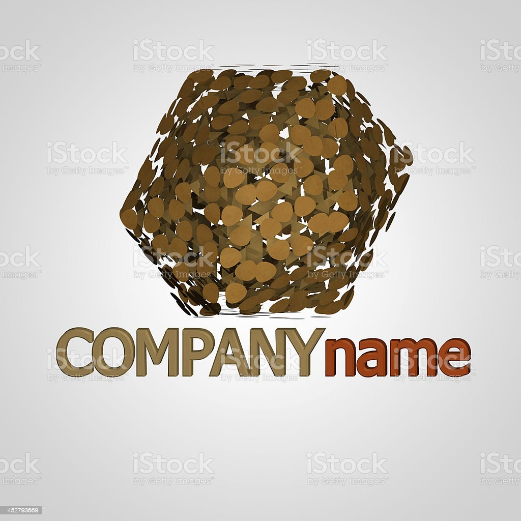 Paper company logo royalty-free stock photo